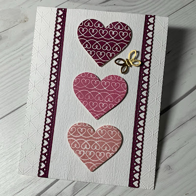 Valentine Card idea using Lots Of Heart Bundle from Stampin' Up!