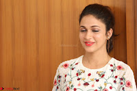 Lavanya Tripathi in Summer Style Spicy Short White Dress at her Interview  Exclusive 219.JPG