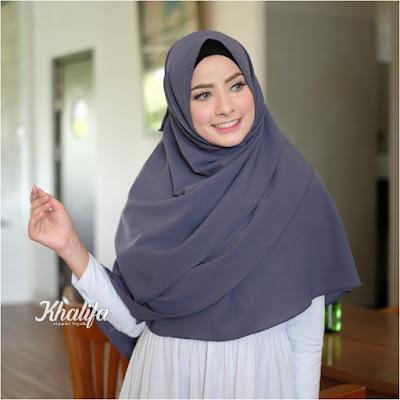 Hijab instan Khalifa zipper