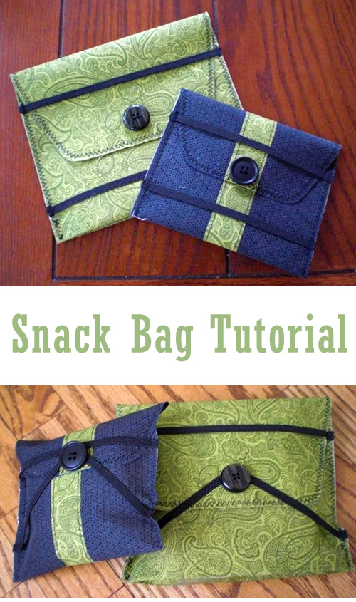 Snack Bag Tutorial and Pattern