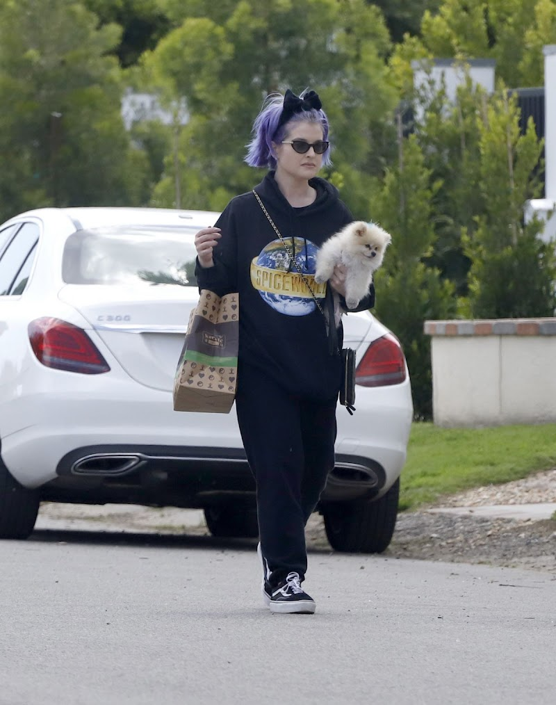 Kelly OsbourneClicked Outside with Her Dog in Los Angeles 29 Mar -2020