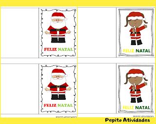 4 belos cartões de natal para imprimir