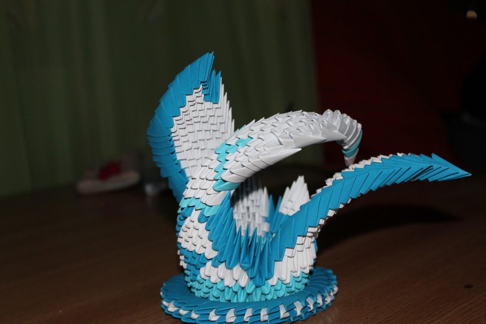 ~Hartie modelata.Origami 3D~: Lebada 3D - photo#23