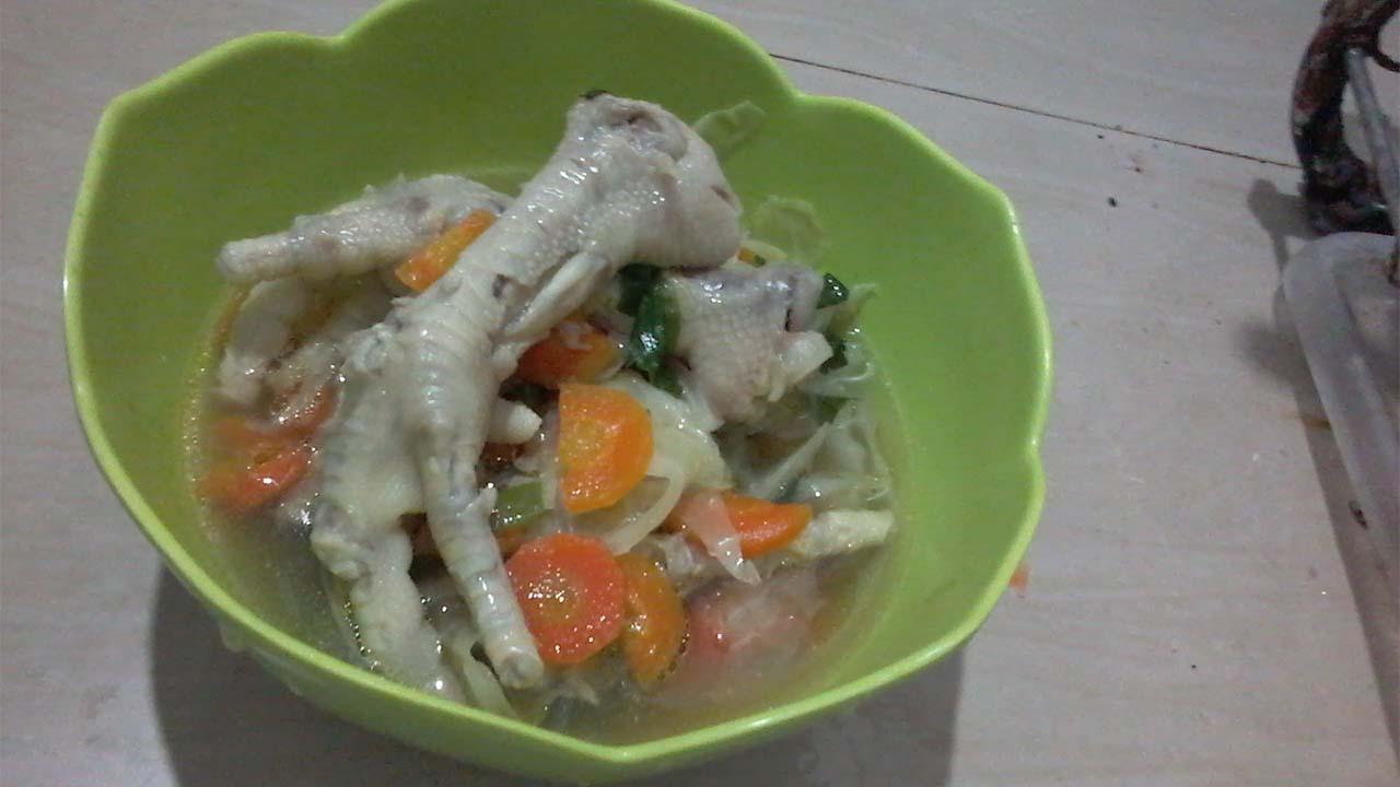 Sop Ceker Ayam Spesial