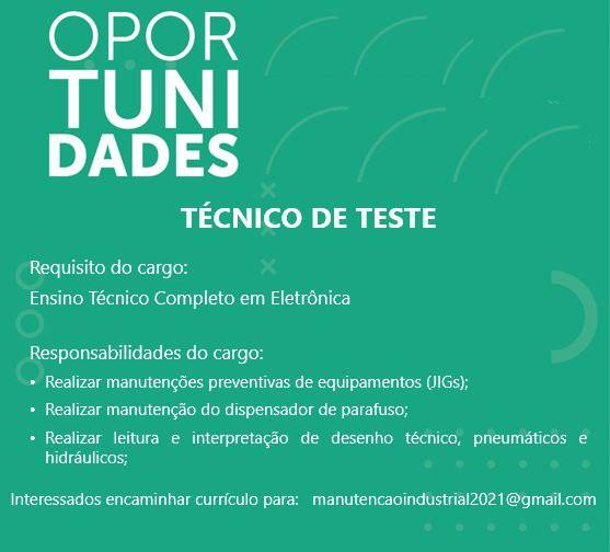 TÉCNICO DE TESTE