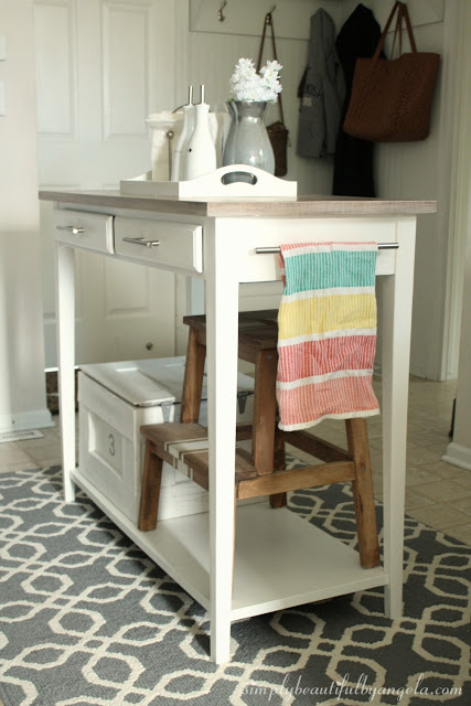 farmhouse table kitchen island makeover