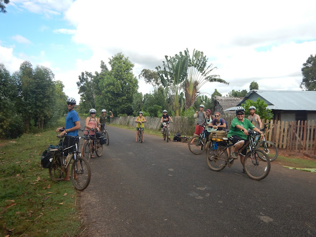 southeast madagascar peace corps volunteers biking in mahabo