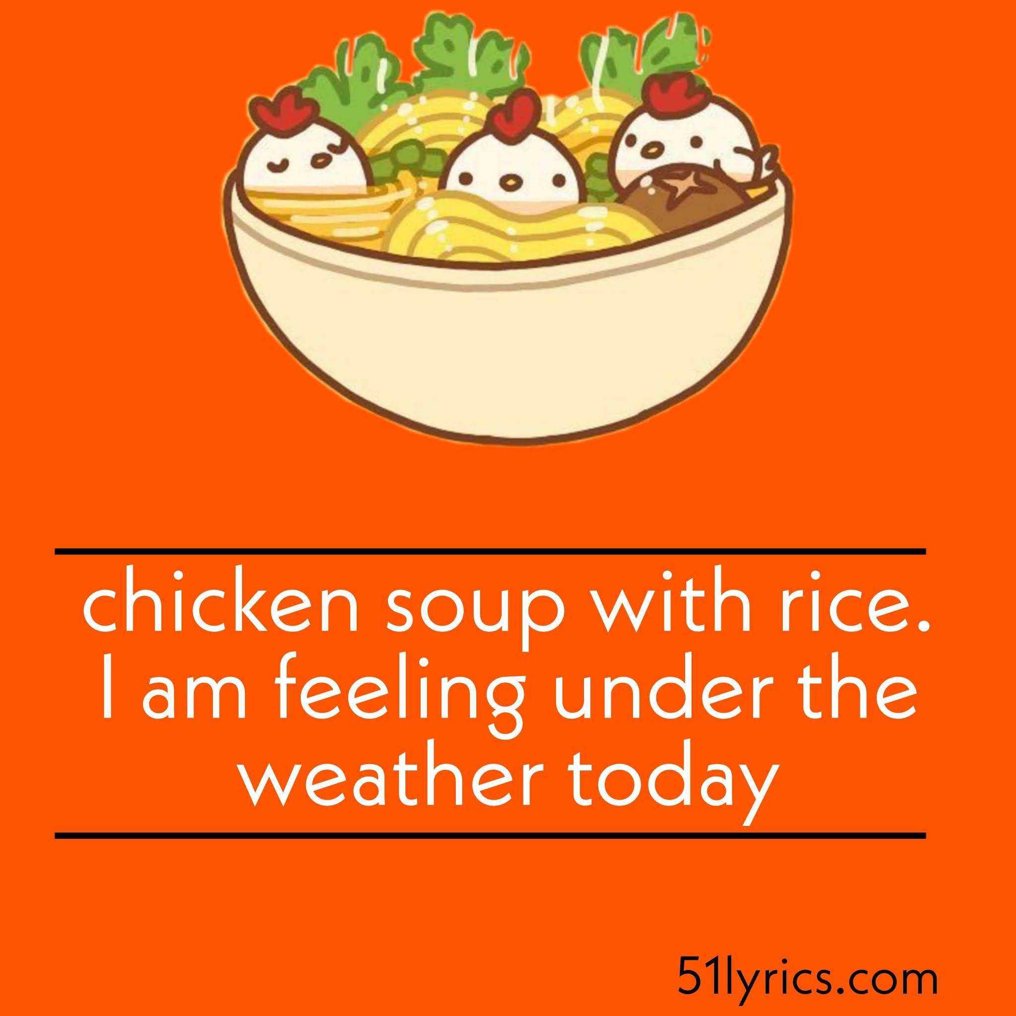 Chicken Soup Captions For Instagram