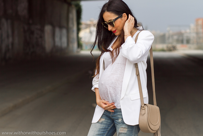 Como vestir durante el embarazo moderna y guapa con ropa normal de zara