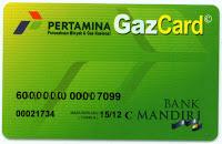 Gaz card Pertamina