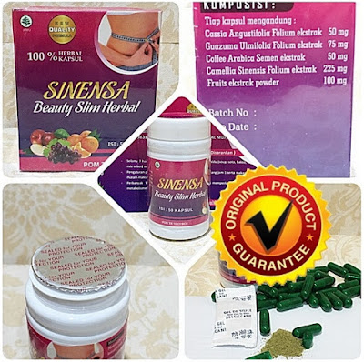 Sinensa Beauty Slim Herbal (BSH) BPOM Pelangsing  dan Pemutih Alami