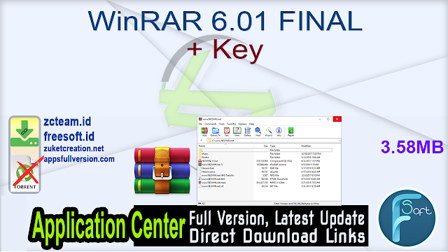 WinRAR 6.01 FINAL + Key