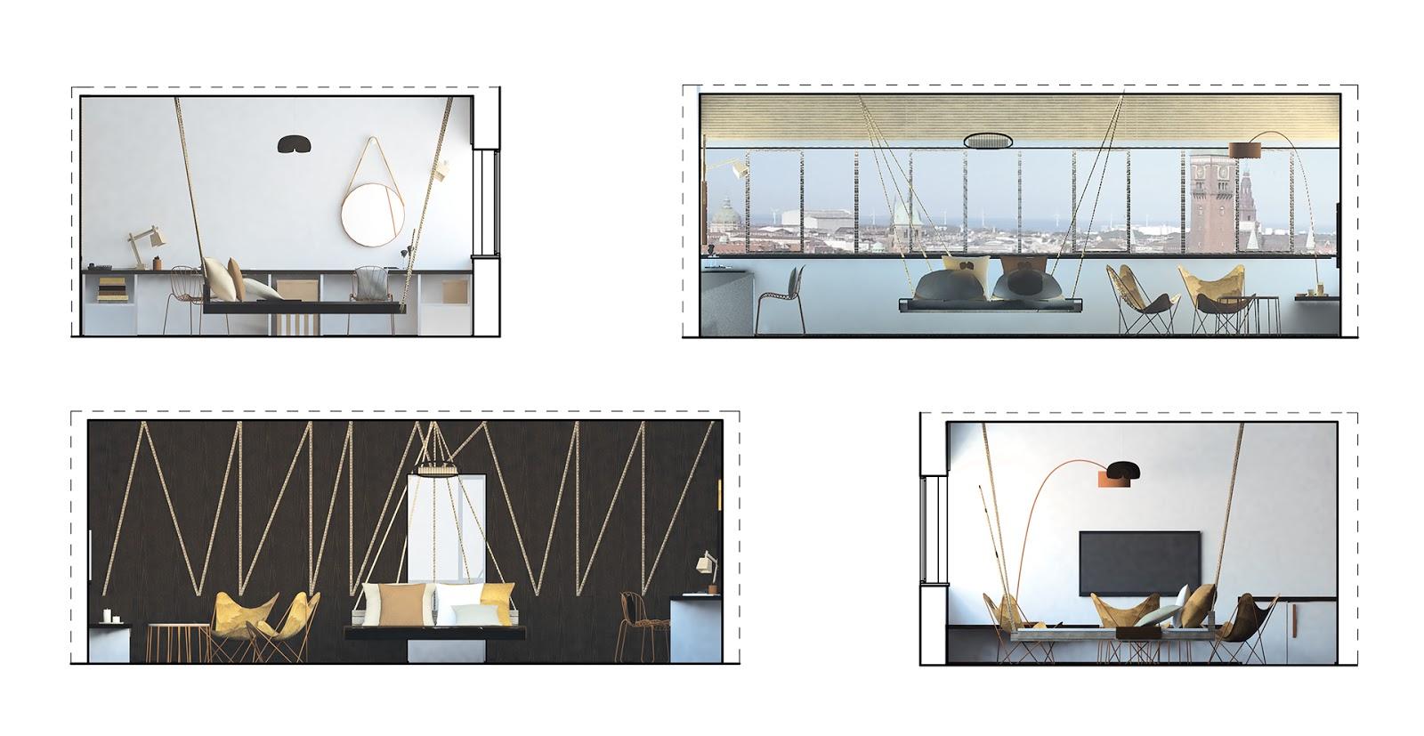projektu architektury wnętrz sypialnych