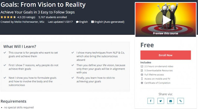 [100% Free] Goals: From Vision to Reality