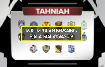 Senarai Pasukan dan Kumpulan Piala Malaysia 2019