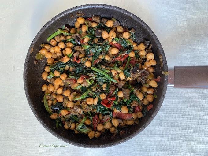 Especiado de garbanzos y verduras