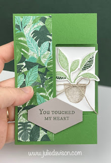VIDEO: Stampin' Up! Bloom Where You're Planted Tri-Shutter Card Tutorial ~ www.juliedavison.com #stampinup