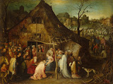 Adoration of the Magi by Jan Brueghel I - Christianity, Religious Paintings from Hermitage Museum