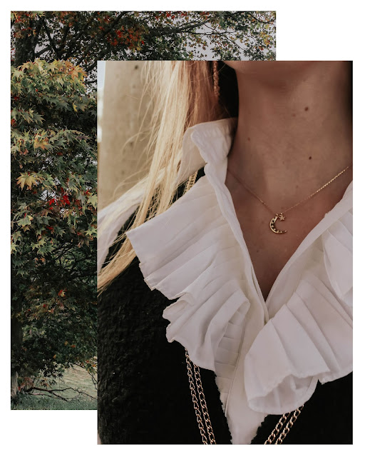 Z for Accessorize gold moon star necklace