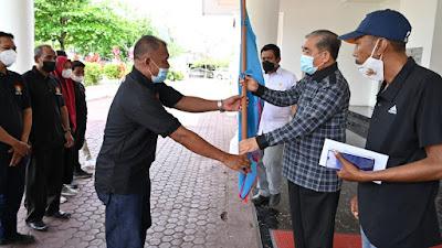 Pelepasan Tim Catur Sidrap, Bupati Dollah Mando Ingatkan Perhatikan Prokes Dalam Beraktivitas