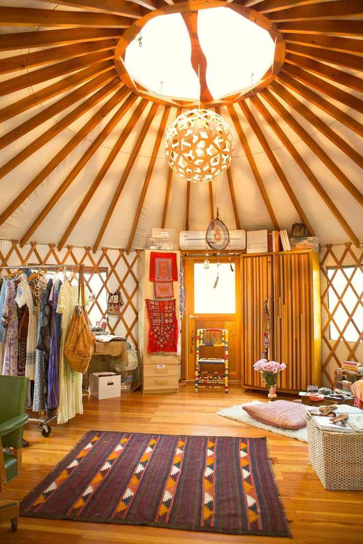 Moon To The Yurt Of Erin Tavin And Nathan Stein