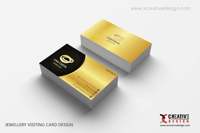 Jewellery Visiting Card Design