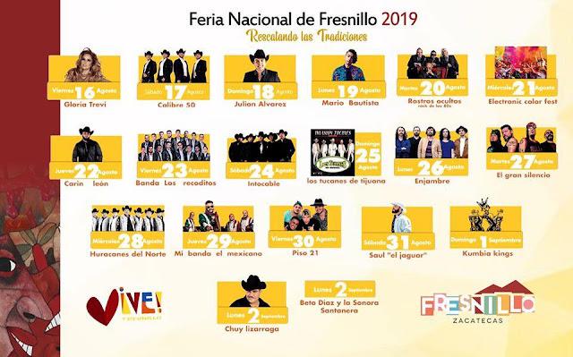 programa feria fresnillo 2019