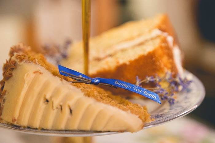 Toffee fudge cake at Bunty's tea room