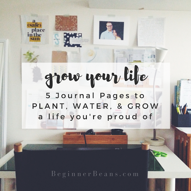 Grow your life with these 5 journal pages to PLANT, WATER, & GROW a life you're proud of. One that ends in forever with Jesus.