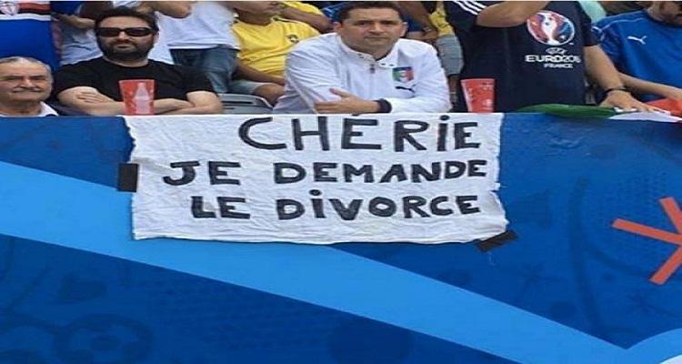 مشجع إيطالي يطلب الطلاق من زوجته على مدرجات يورو 2016 و السبب أغرب من الخيال