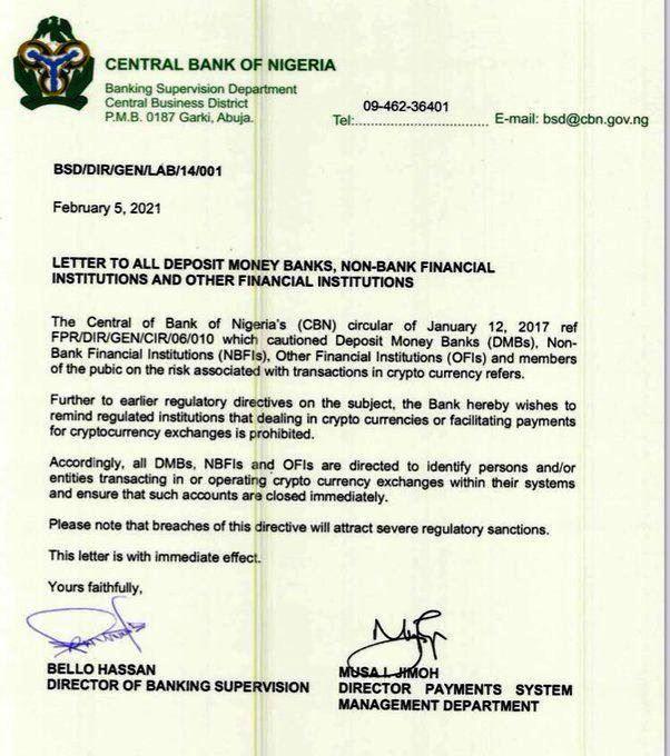 Nigeria Cryptocurrency Regulation