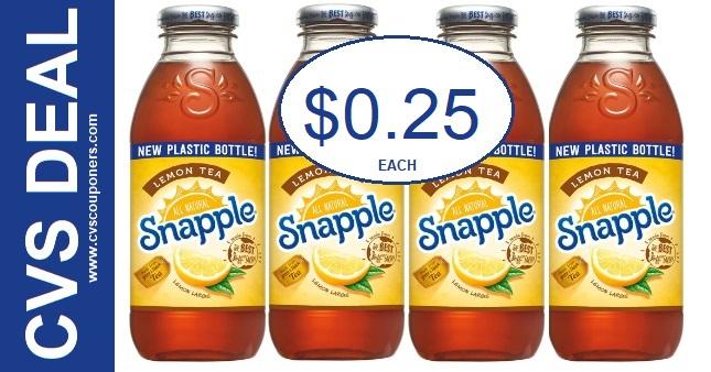 Snapple Lemon Tea CVS Deal