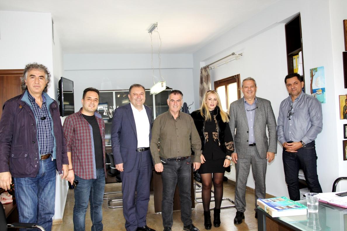 Ο Δήμαρχος κ Ιγνάτιος Καϊτετζίδης και υποψήφιος για την ΠΕΔ.και ο κ.Μιχάλης Γεράκης υποψήφιος για το Φο.Δ.Σ.Α