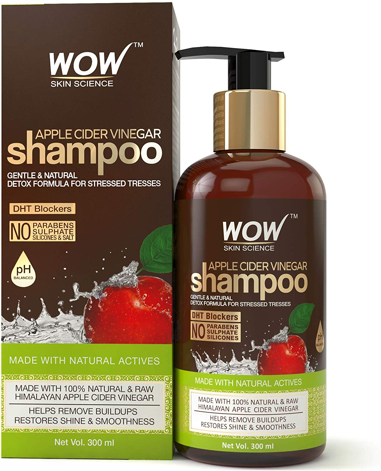 Buy [Only Rs. 319] WOW Apple Cider Vinegar No Parabens & Sulphate Shampoo 36% Off
