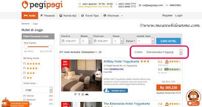 Tips Booking Hotel secara Online ala Meanwhile U and Me urutan hotel berdasarkan rekomendasi