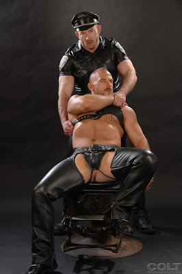 gay men in leather chaps