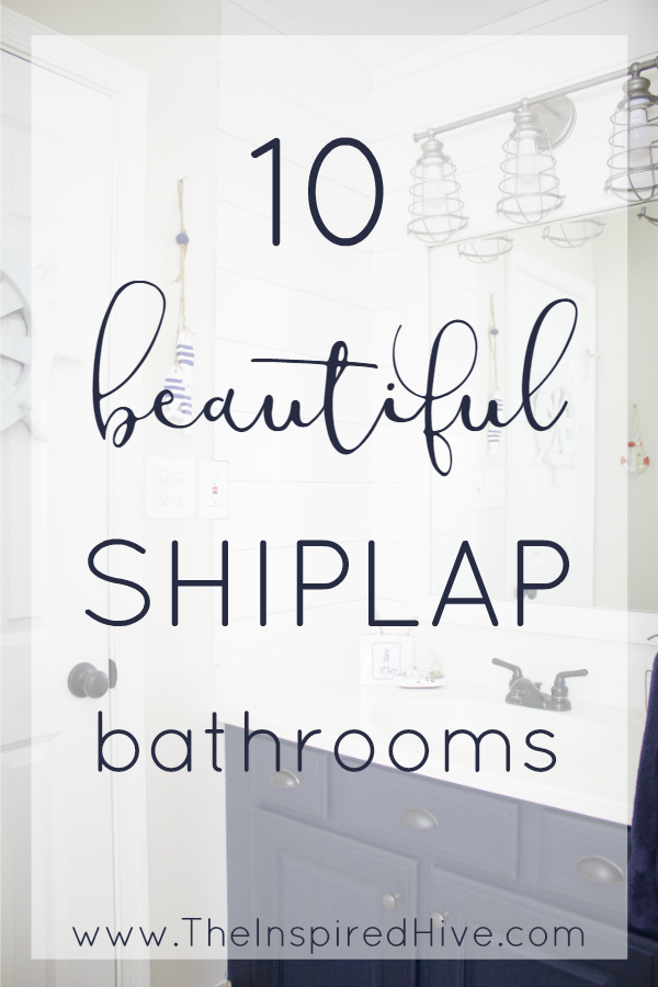 10 beautiful DIY faux shiplap and plank wall bathroom ideas.