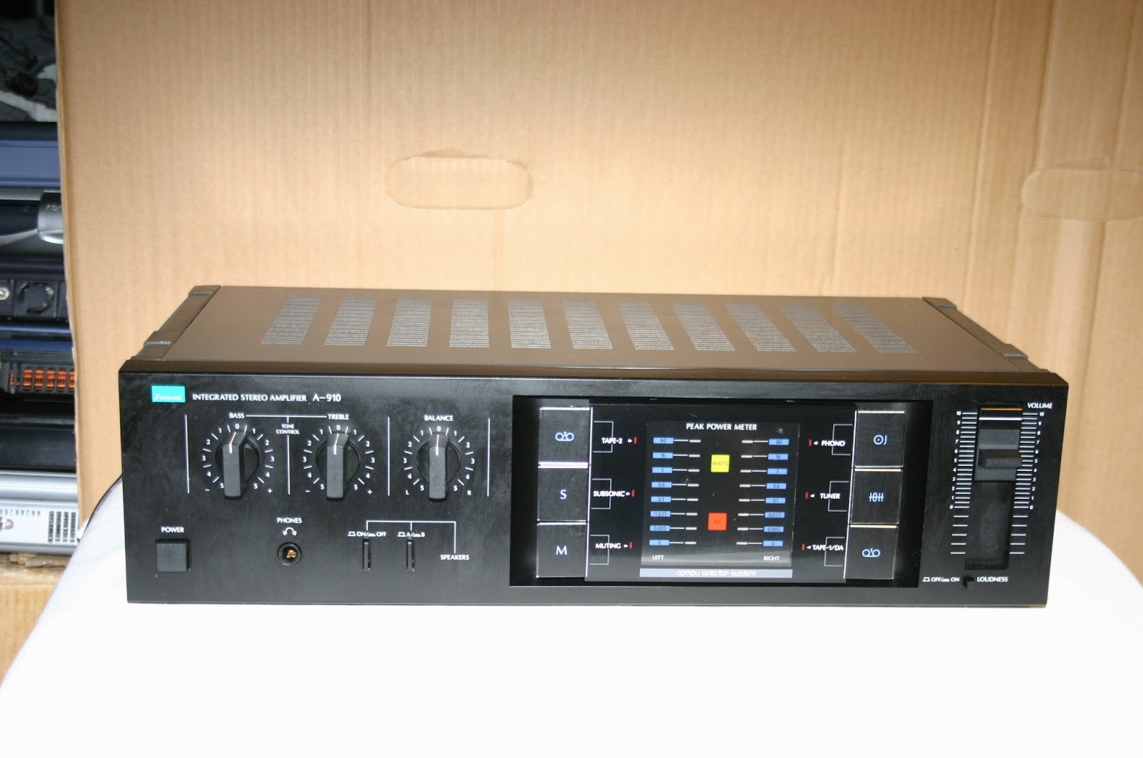 Electronics Repaired: Sansui A 910 Integrated Amplifier (stuck in