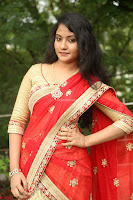 Akshara in Red Saree Golden Choli at LV Movie Makers Production No 1 Movie Opening ~  Exclusive 127.JPG