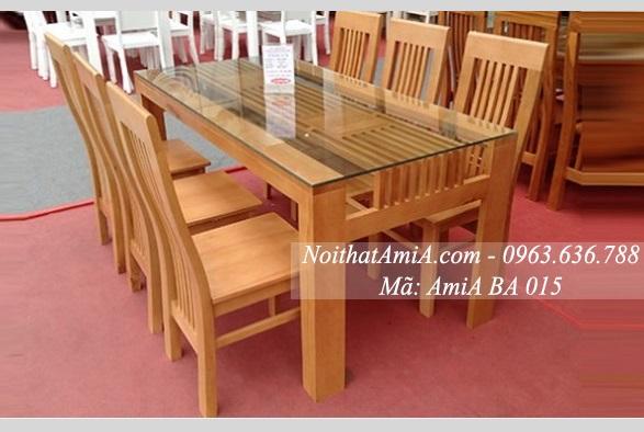 Bộ bàn ăn gỗ 6 ghế ngồi giá rẻ
