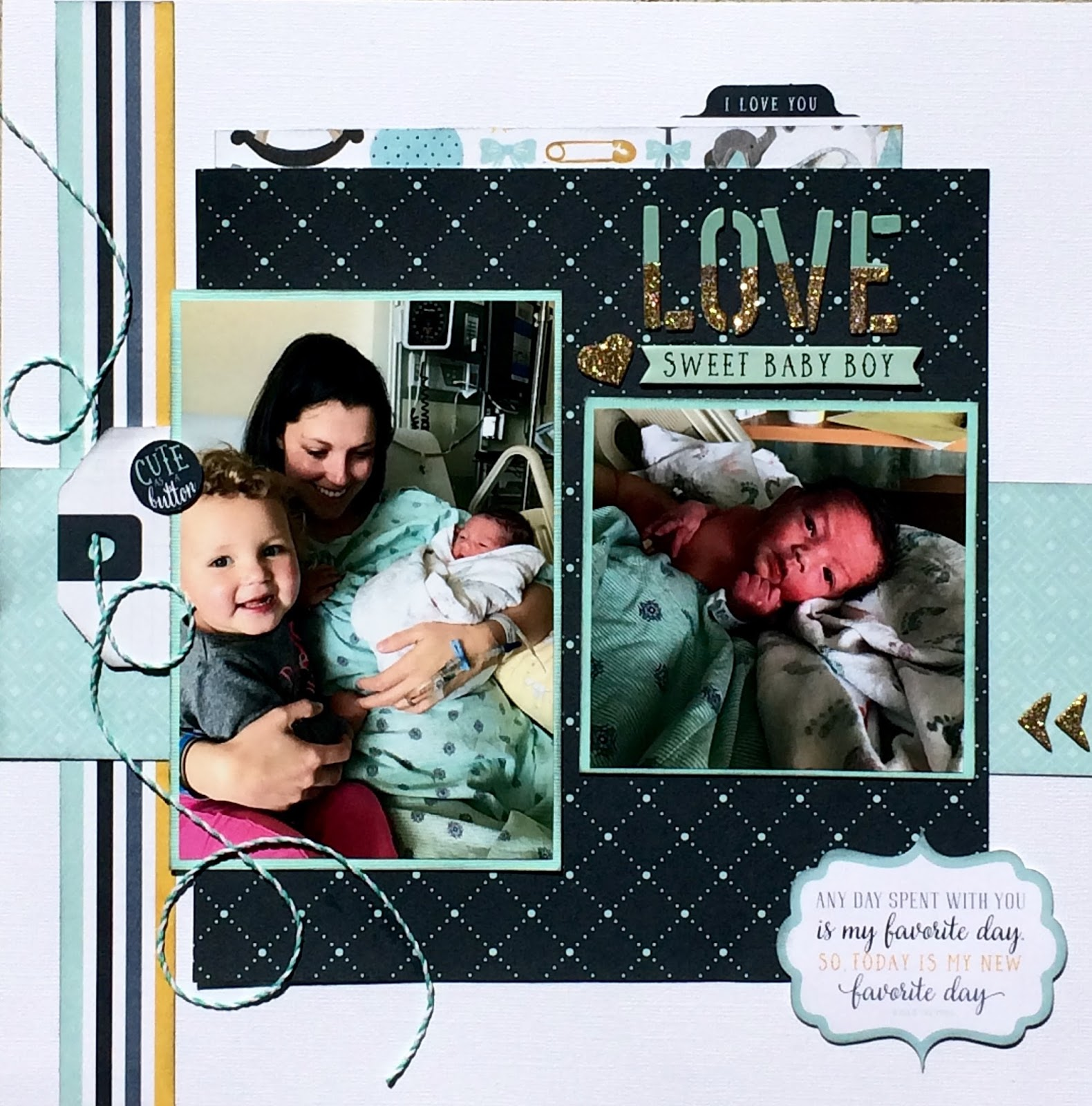 i made this layout inspired by the sketch challenge at sketches in thyme this month i used photos from the birth of my goddaughters new son