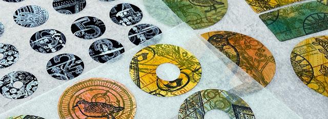DIY Stamped Stickers Banner - Gwen Lafleur