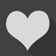 heart shadow button