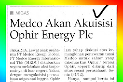 Medco Will Acquire Ophir Energy Plc