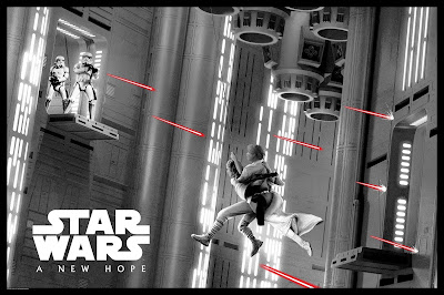 "New York Comic Con 2019 Exclusive Star Wars ""For Luck (A New Hope)"" Screen Print by Matt Ferguson x Bottleneck Gallery"