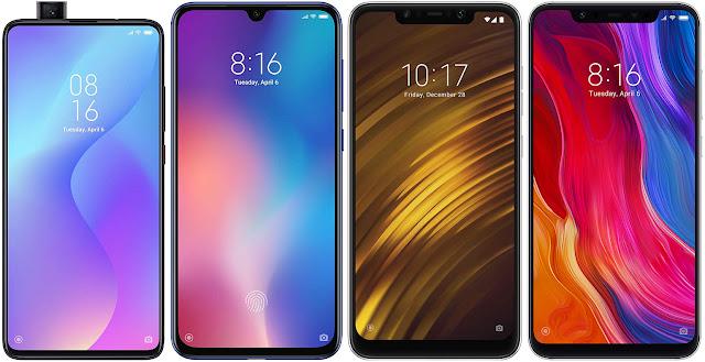 Xiaomi Mi 9T vs Xiaomi Mi 9 SE vs Xiaomi Pocophone F1 vs Xiaomi Mi 8