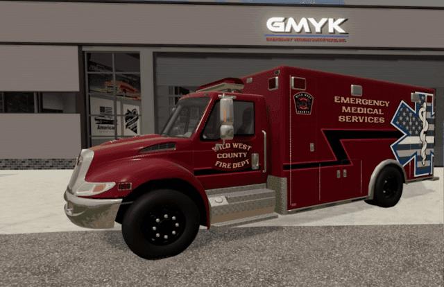 FS19 IH Durastar Ambulance v1.0