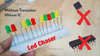 How to make a LED Chaser without IC | without Transistor