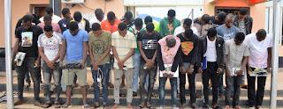 EFCC Arrest 54 Fraudsters In Ogun & Osogbo State.