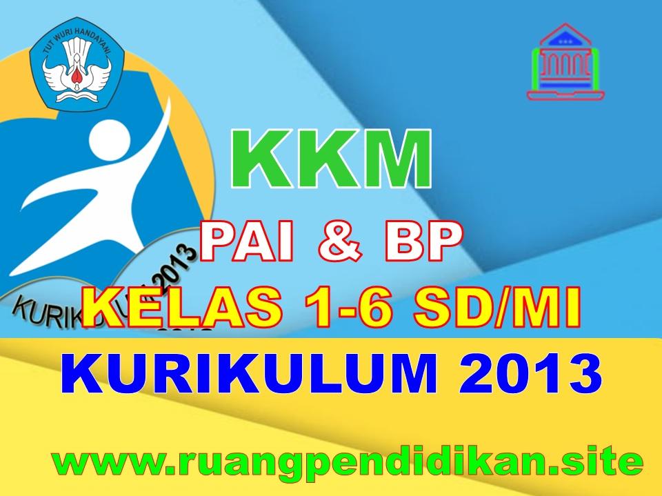 KKM PAI Dan BP Kelas 1, 2, 3, 4, 5, 6 SD/MI